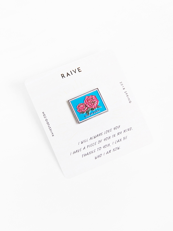 Square Rose Badge in Blue VX8X-X0020