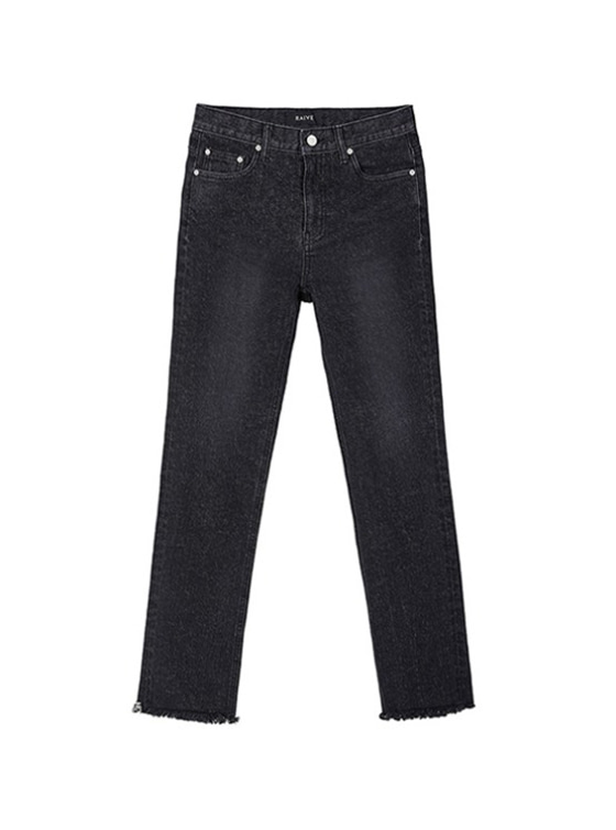 Straight High Waist Jeans in Black VJ9SL0090