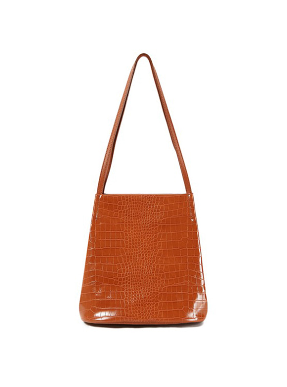 Mock Croc Tote Bag in Brown VX9SG0260