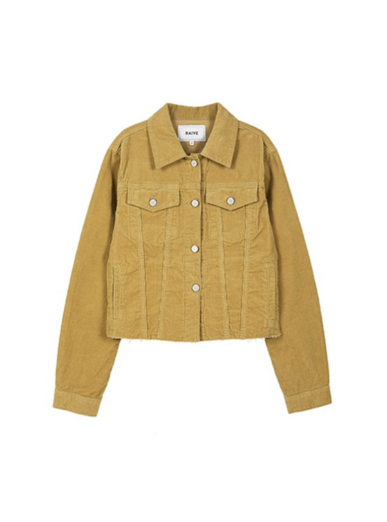 Corduroy Crop Jacket in Beige VW9SJ0030