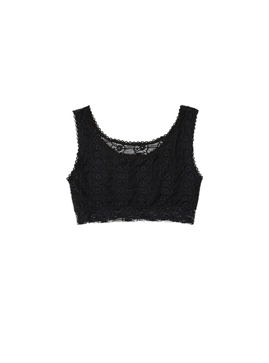 Lace Tank Bra in Black VW8SX0910