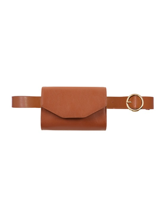 Leather Belt Bag in Brown VL9AX0290
