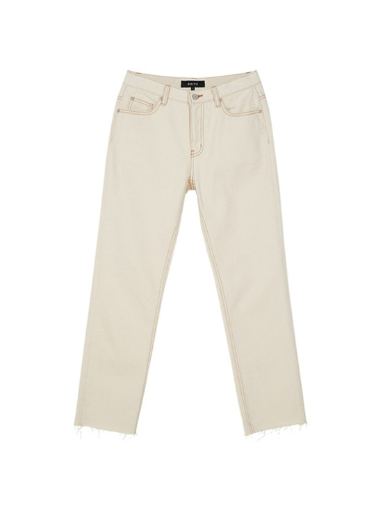 Loosefit Denim Pants in Ivory VJ9AL0430