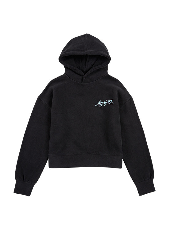 Snap Button Hoodie in Black VW9WE0840