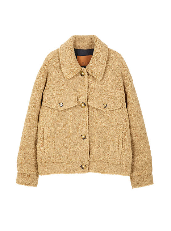 Teddy Bear Jacket in Beige VW9WJ0560