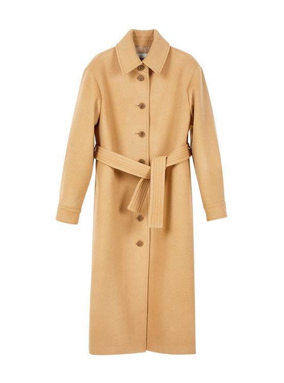 Single Maxi Coat in Beige VW9WH0540