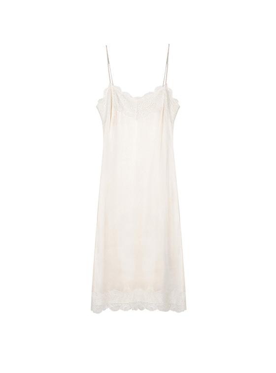 Lace Cami One Piece in White VW8SO0440