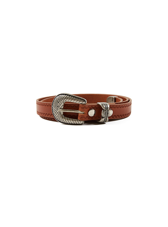 Western Leather Belt in Brown VX8AT0940